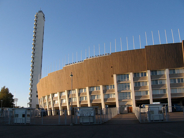 Olympic stadium and tower in Helsinki