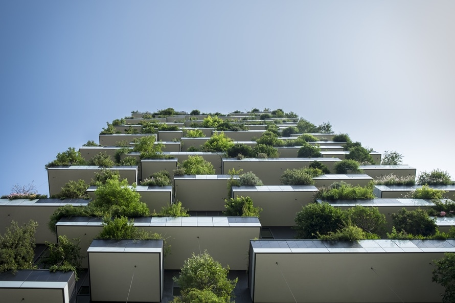 hanging gardens from below