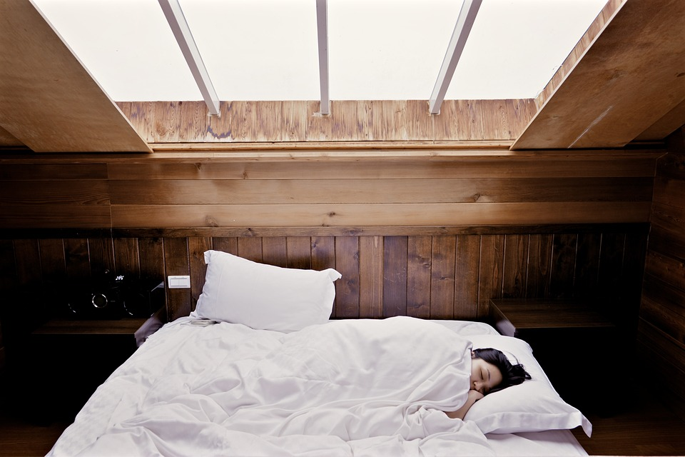 sleeping on mattress width=