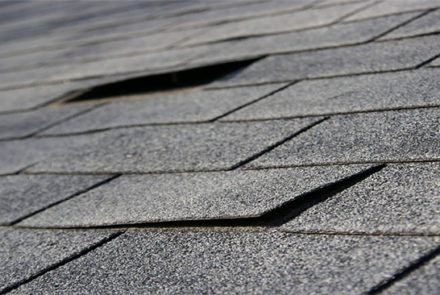 signs of roof failure