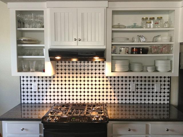 white cabinets in an organized kitchen