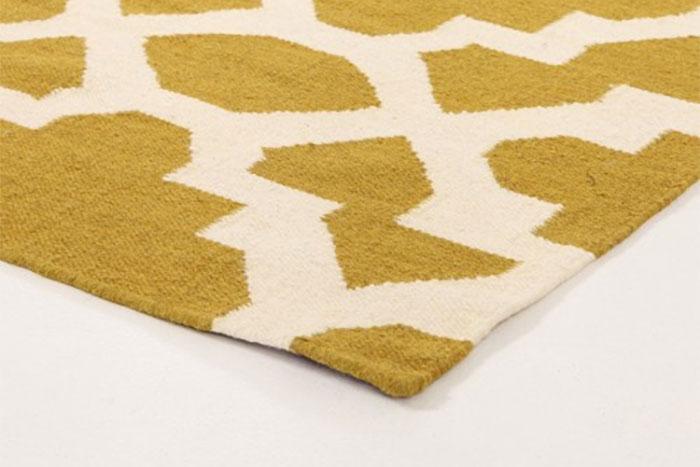 Flatweave runner rug from tools