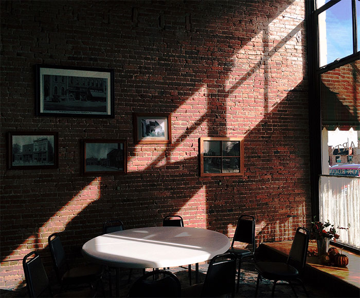 exposed brick interior wall for industrial design look