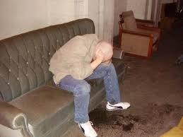drunk mess damaging carpet