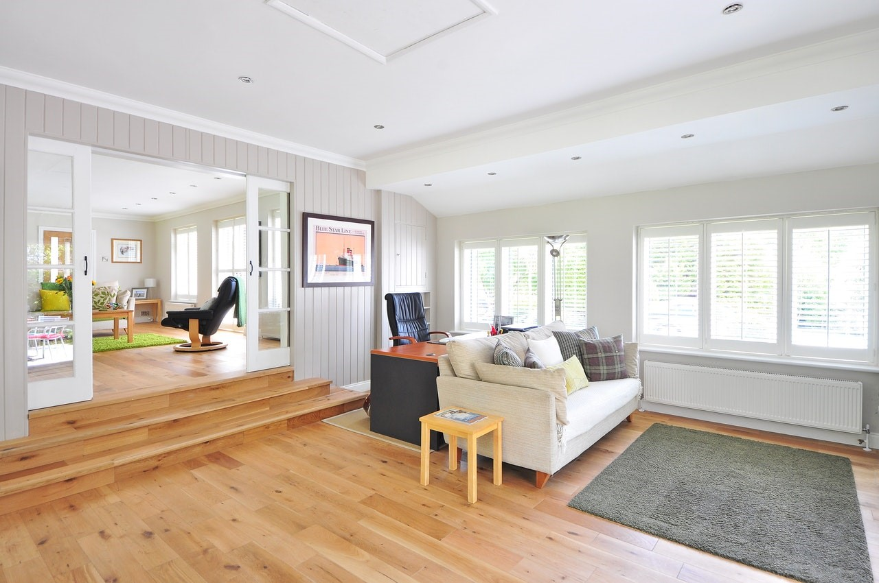 natural light in open, airy interior