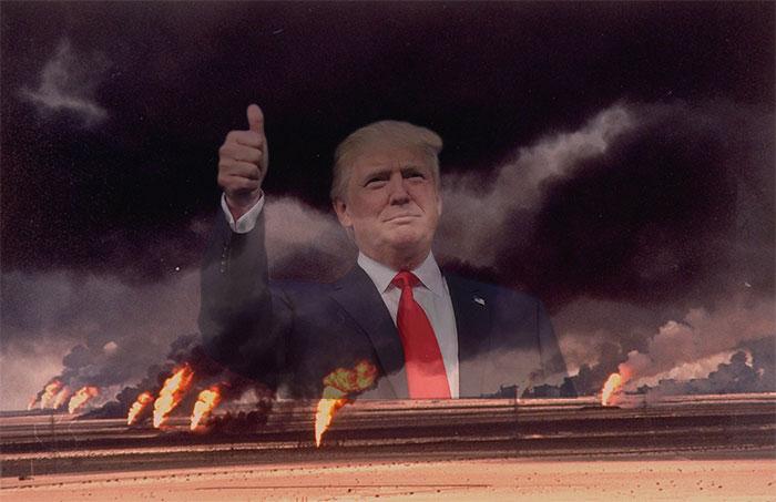 "donald trump ""trumpster"" fire paris accord"